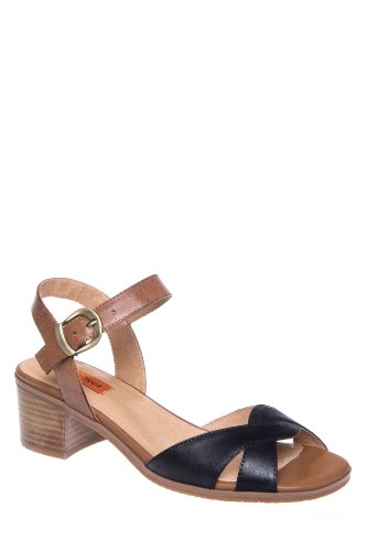 Noreen Low Heel Ankle Strap Sandal