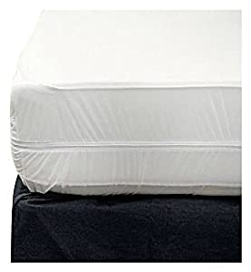 Sultan's Linens Zippered Fabric Mattress Cover, Twin Size