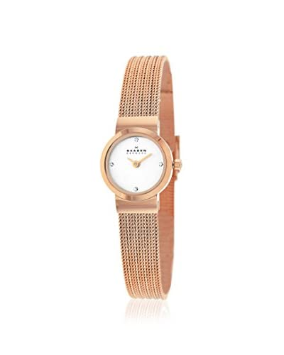 Skagen Women's SKW2132 Classic Rose Gold Tone/Silver Stainless Steel Watch