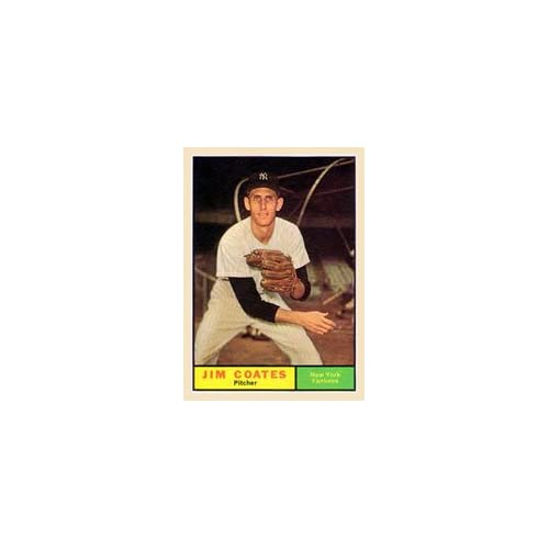1961 Topps Regular (Baseball) Card# 531 Jim Coates of the New York Yankees Ex Condition discount price 2015