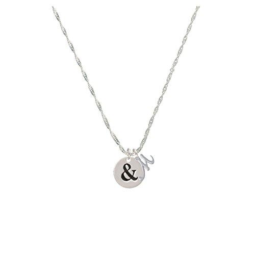 Disc 1/2'' - Symbol - Ampersand - & - Mini Gelato Initial - M - Grace Necklace