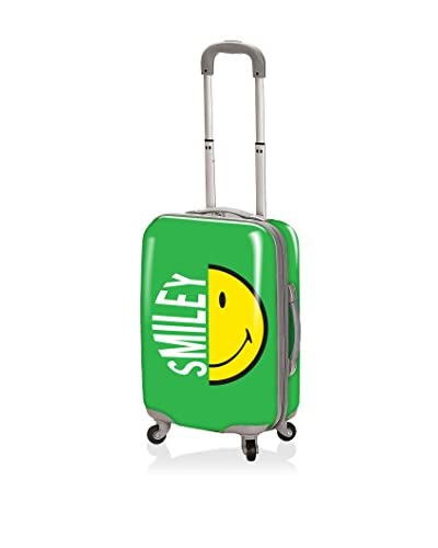 """Smiley Luggage Collection 26"""" Half Face Hardcase, Green"""