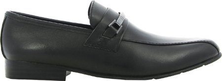 umi Harrison III Dressy Bike Front Slip-On Loafer (Toddler/Big Kid), Black, 41 EU(8 M US Big Kid)