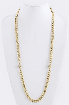 Trendy Fashion Skull Chained Necklace By Fashion Destination by Fashion Destination