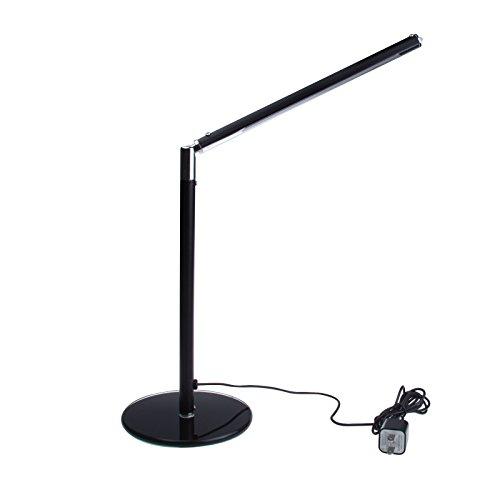 Sunsbell Flexible Arm Eye-Care Led Desk Lamp Folding Student Read Book Light (Black)