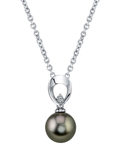 14K Gold Tahitian South Sea Pearl & Diamond Morgan Pendant