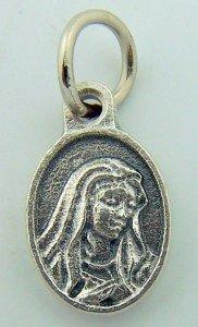 Mini Charm Bracelet Catholic Petite Medal Silver P Sorrowful Mary Pray for Us