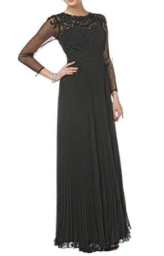 Cchappiness Women'S Scoop Floor Length Mother Of The Bride Dresses Black Us 20