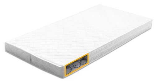 Kub Comfort Cot Bed Mattress (70 cm x 140 cm, White)