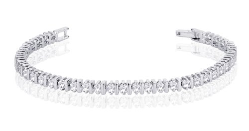 Peora Valentine Rhodium Plated Bracelet with Cubic Zirconia PB1144 (silver)