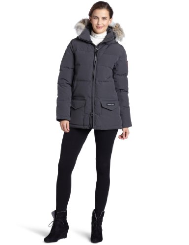 Canada Goose Women's Solaris Parka,Graphite,Large (Canada Goose Solaris Down Parka compare prices)