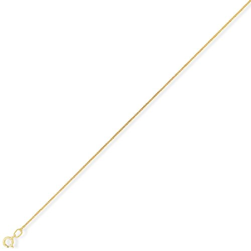 Extra Fine 9Ct Gold Curb Chain 20 inch/1mm