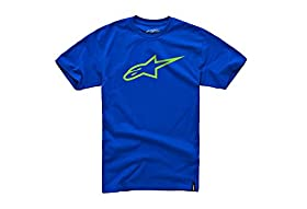 Alpinestars Men's Ageless Classic Short-Sleeve Shirt, Royal/Bright Green, X-Large