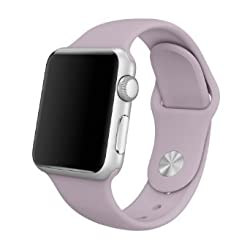 Apple Watch Replacement Band - Valuebuybuy Soft Silicone Replacement Sports Wristbands Straps for Apple Wrist Watch iWatch All Models Formal Colors S/M Size-38mm/Lavender