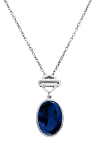 Harley-Davidson® MOD® H-D Blue Oval Necklace HDN0284
