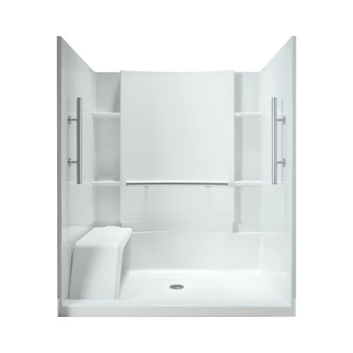 Sterling Plumbing 72294103-0 Accord 60-Inch 3-Piece Complete Wall Set with Grab Bars, White