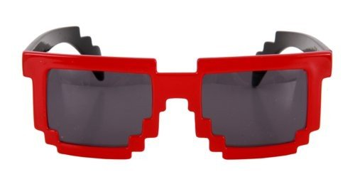 Pixel-8 Glasses Red/Smoke