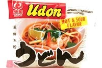 Myojo Udon Hot & Sour Flavor (Japanese Style Noodle with Soup Base) - 7.3oz - 205g (Pack of 6)