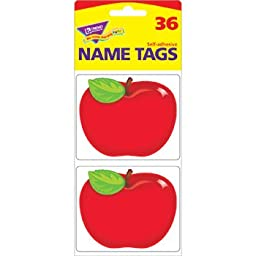 T-68080 - SHINY RED APPLE NAME TAGS