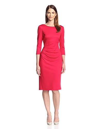 Donna Ricco Women's Cropped Sleeve Pleated Sheath Dress
