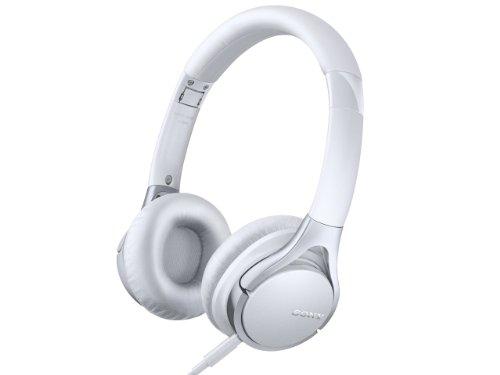 SONY 密閉型オンイヤーヘッドホン ハイレゾ音源対応 リモコン・マイク付 折りたたみ式 ホワイト MDR-10RC/W