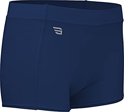 """HT117 Women's 4"""" Athletic Volleyball Compression Form Fit Sport Short"""