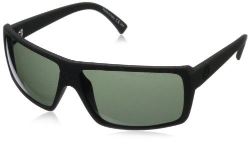 VonZipper Snark Rectangular Sunglasses,Black Satin,One Size