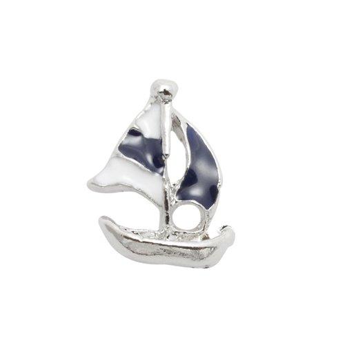 エムプティ ネイルパーツ カーブシリーズ マリンボート ネイビー A156 1個