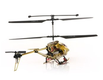 SanYing 3.5-Channel Tiger Stripe Remote Control Helicopter with Gyroscope and Missile Lights (Gold + Worldwide free shiping
