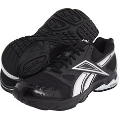 Reebok Men's Instant Running Shoe Black and Silver 7.5 Extra Wide