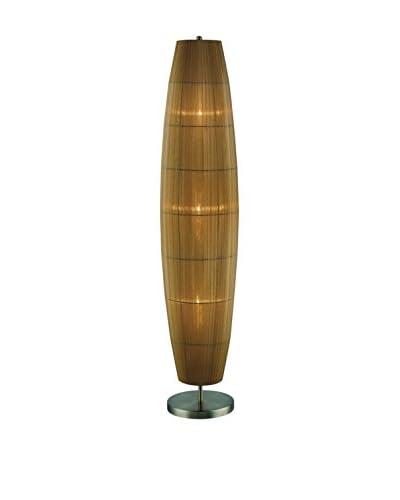 Lite Source Parvati 3-Light Floor Lamp, Antique Brass/Amber