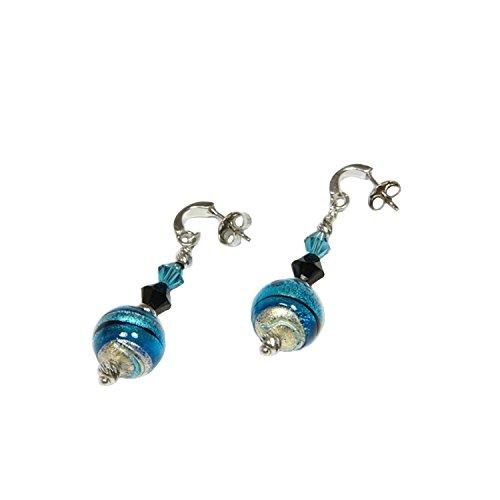 orecchini-donna-pendenti-in-argento-925-rodiato-vetro-di-murano-impreziosito-con-la-foglia-doro-prod