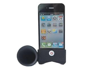 Horn Stand Speaker Loudspeaker For Apple iPhone 4 4G Black