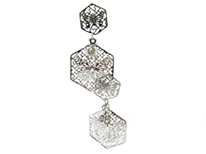 Hypoallergenic Non Tarnishing Stainless Steel Dangle Earrings with Posts and Stoppers