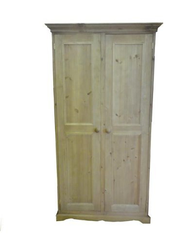 Wye Pine Traditional Ladies Wardrobe - Finish: Unfinished - Stain: Waterbased
