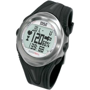 Pyle Sports Ppdm1 Digital Heart Rate Monitor Watch With Chronograph, Pulse, And Pedometer