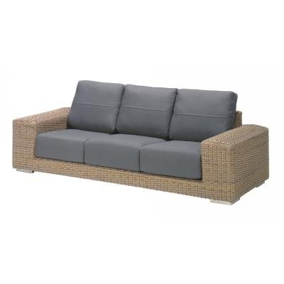 4 Seasons Outdoor Kingston 3-Sitzer Lounge-Sofa Polyrattan pure