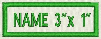 "Buy Bargain Custom Embroidered Patch 3"" X 1"" - Just Add Your Name"