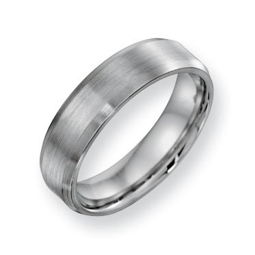 Cobalt Chromium Satin Polish 6mm Band Ring - Size 11.5 - JewelryWeb