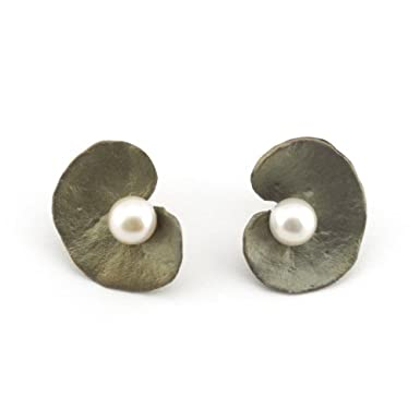 Geranium Spiral Stud Earrings by Michael Michaud||RF10F