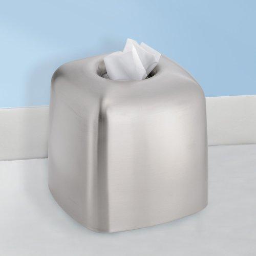 Interdesign Nogu Bath Facial Tissue Box Cover Holder For Bathroom Vanity Countertops Brushed