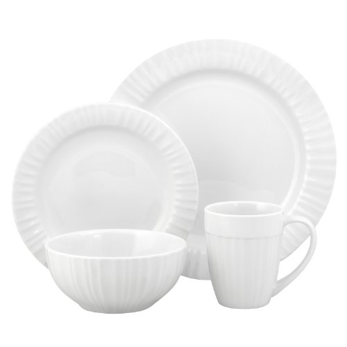 Corningware French White 16-Piece Bakeware Set, Service For 4