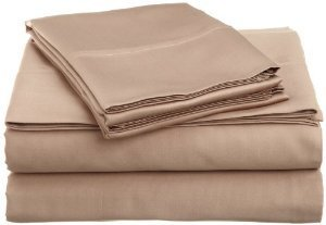 Solid Tan/Beige 300 Thread Count Twin Extra Long Size Sheet Set 100 % Egyptian Cotton 3Pc Bed Sheet Set (Deep Pocket)Xl Twin By Sheetsnthings front-958036