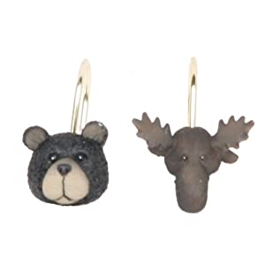 Wildlife Shower Curtain Hooks
