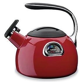 Cuisinart PerfecTemp Tea Kettle - Temperature Gauge - Red