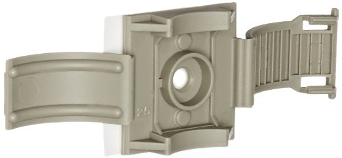 """Panduit Arc.68-A-Q14 Clincher Adjustable Releasable Clamp, Polypropylene, Rubber Adhesive Tape Mounting Method, Gray, 0.19 - 0.68"""" Bundle Diameter Range (Pack Of 25)"""