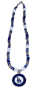 MLB Los Angeles Dodgers Shell Necklace, 18-Inch, White
