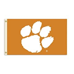 NCAA Clemson Tigers 3-by-5 Foot Flag With Grommets by BSI