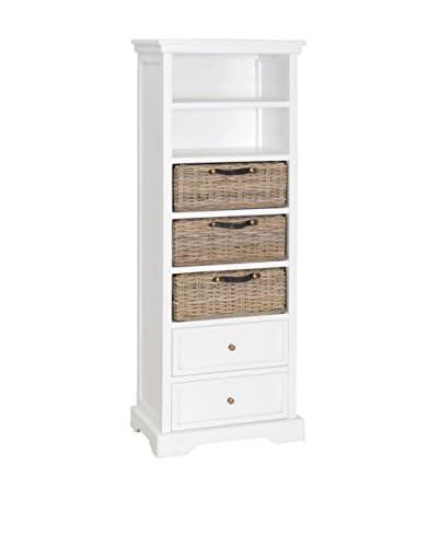 Jeffan Simone Tall Bookcase, White