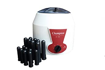 Ample Scientific E-33-12V Fixed Angle Centrifuge with Fixed Champion, 320mm Length x 320mm Width x 320mm Height, 0-30min, 3300rpm Speed